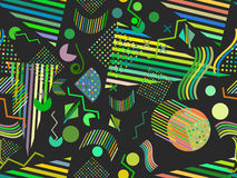 Memphis seamless pattern. Abstract seamless patterns 80`s-90`s styles. Vector Royalty Free Stock Photo