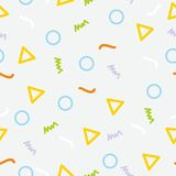 Memphis seamless pattern background. With simple design Royalty Free Illustration