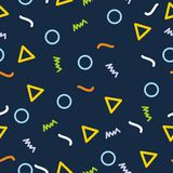 Memphis seamless pattern background. With simple pattern design Stock Photography