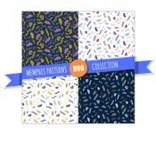 Memphis seamless pattern collection Stock Photos