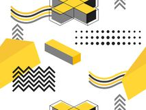 Free Memphis Seamless Pattern. Geometric Elements Memphis In The Style Of 80`s. Background For Promotional Materials, Postcard Stock Photos - 149110023