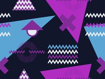 Memphis seamless pattern. Geometric elements memphis in the style of 80s. Retro background. Vector. Illustration royalty free illustration