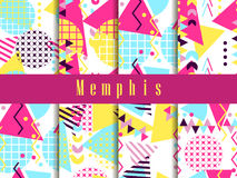 Memphis seamless pattern. Geometric elements memphis in the style of 80`s. Vector. Illustration Royalty Free Illustration