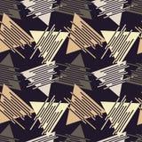 Memphis seamless pattern. Geometric seamless pattern in 80s style. Retro motif. Textile rapport stock illustration