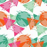 Memphis seamless pattern. Geometric seamless pattern in 80s style. Retro motif. Textile rapport royalty free illustration