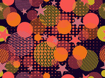 Memphis seamless pattern. Pop art dotted and geometric elements memphis in the style of 80`s. Vector vector illustration