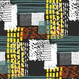 Memphis seamless  pattern in retro style. Royalty Free Stock Photo