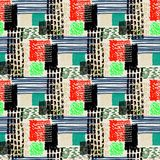 Memphis seamless  pattern in retro style. Royalty Free Stock Photos