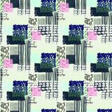 Memphis seamless  pattern in retro style. Stock Photography