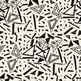 Memphis seamless pattern in retro style. Doodle pattern hand-drawn pen, ink, chalk. Royalty Free Stock Photos