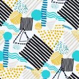 Memphis seamless  pattern in retro style. Royalty Free Stock Photos