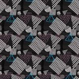 Memphis seamless  pattern in retro style. Stock Images