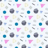Memphis seamless  pattern in retro style. Stock Photos
