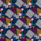 Memphis seamless  pattern in retro style. Royalty Free Stock Images