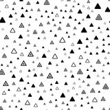 Memphis seamless pattern with triangular geometric elements Royalty Free Stock Images