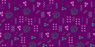 Memphis seamless pattern vector illustration with geometric abstract dotted triangle background multicolor. Funky fashion bright colorful template doodle retro stock illustration