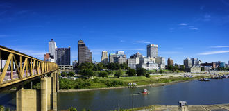 Memphis Skyline with blue sky