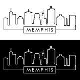 Memphis Skyline estilo linear ilustración del vector