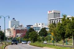 Memphis-Skyline-Verkehr stockfotos