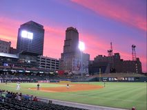 Memphis Stadium Lights Imagens de Stock