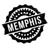 Memphis stamp rubber grunge Stock Photo