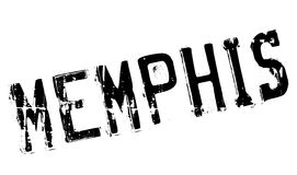 Memphis stamp rubber grunge Stock Image