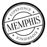 Memphis stamp rubber grunge Stock Images