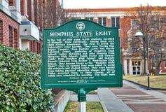 Memphis State Eight Marker en Memphis, Tennessee imagen de archivo