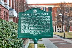 Memphis State Eight Marker in Memphis, Tennessee Stock Image