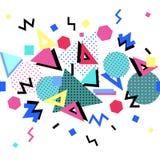 Memphis stilbakgrund vektor illustrationer
