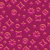 Memphis Style Abstract Seamless Pattern bitonale sul magenta royalty illustrazione gratis