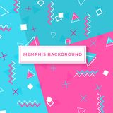 Memphis style cover with geometric shapes. templates in trendy fashion 80-90s. Memphis style cover with geometric shapes and patterns. Collection of templates in vector illustration