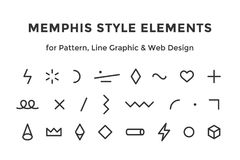 Memphis style elements Stock Photography