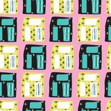 Memphis Style Geo Sketchy Abstract Seamless Vector Pattern, Drawn Pop Art vector illustration