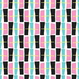Memphis Style Geometric Abstract Seamless Getrokken Pop-art royalty-vrije illustratie