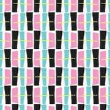 Memphis Style Geometric Abstract Seamless gezeichnete Pop-Art lizenzfreie abbildung