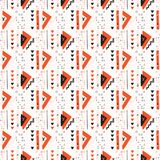 Memphis Style Geometric Abstract Seamless Triangle Pattern. Memphis Style Geometric Abstract Seamless Vector Pattern, Hand Drawn Stylized Graphic Illustration royalty free illustration