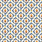 Memphis Style Geometric Abstract Seamless Vector Pattern vector illustration