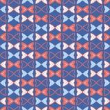 Memphis Style Geometric Bows Stripes sömlös vektormodell vektor illustrationer