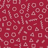 Memphis style geometric seamless pattern Stock Image