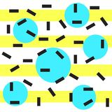 Memphis style background. 1980s trend. illustration. Memphis style geometric seamless pattern. trendy print stock illustration