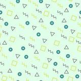 Memphis style geometric seamless pattern. Vector. Modern vector illustration