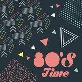 Memphis style pattern retro fashion style 80 time. Vector illustration Royalty Free Stock Photo
