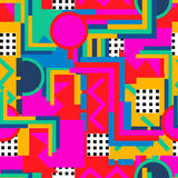Memphis style pattern 13. Memphis  style. Seamless geometric vintage seamless pattern in Retro 80s or 90s. Can be used in the textile fabric, paper print, web Stock Images