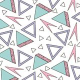 Memphis style pattern triangle geometric shape. Vector illustration Stock Photo