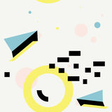 Memphis Style Seamless Geometry Pattern 1 Arkivbild