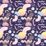 Memphis Style Seamless Pattern abstracto con geométrico Fotos de archivo libres de regalías