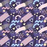 Memphis Style Seamless Pattern abstracto con geométrico Imagenes de archivo