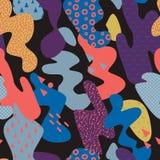 Memphis Style Seamless Pattern abstracto con los movimientos del cepillo Imagen de archivo libre de regalías