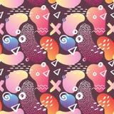 Memphis Style Seamless Pattern abstrato com geométrico ilustração do vetor